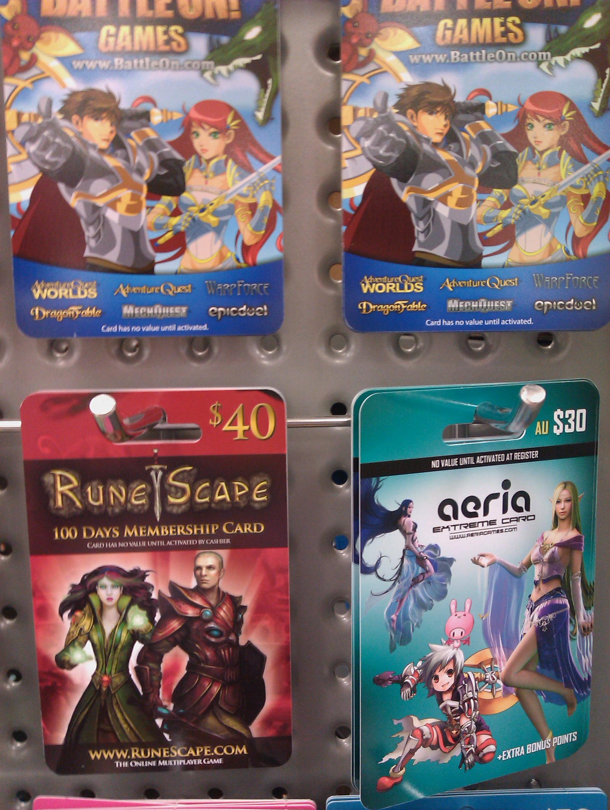Gaming Prepaid Cards